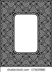 editable at any size ornamental celtic border