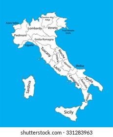 Lombardy Lombardia Italy Vector Map Illustration Stock Vector ...