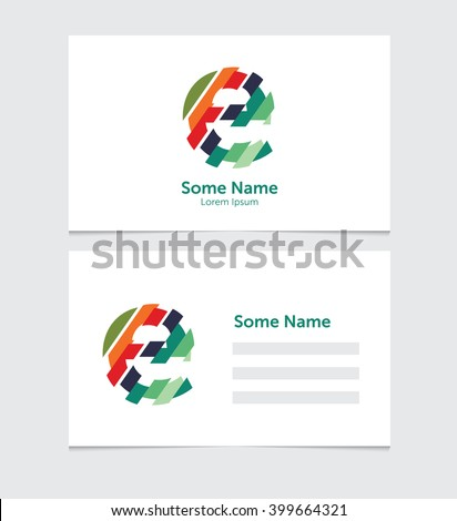 Editable business card template illustration vector stock vector editable business card template with illustration of vector e letter logo cheaphphosting Images