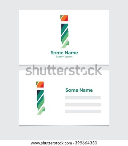 Editable Business Card Template Illustration Vector Stock Vector