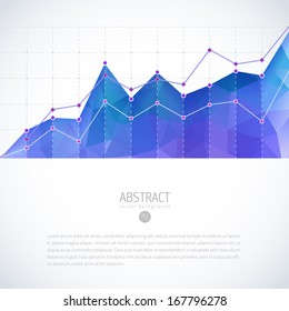 Editable business diagram graph chart with colorful bright triangle pattern