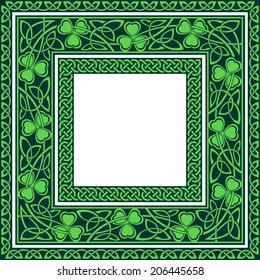 editable Celtic borders