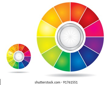 Editable color wheel template with copy paste area