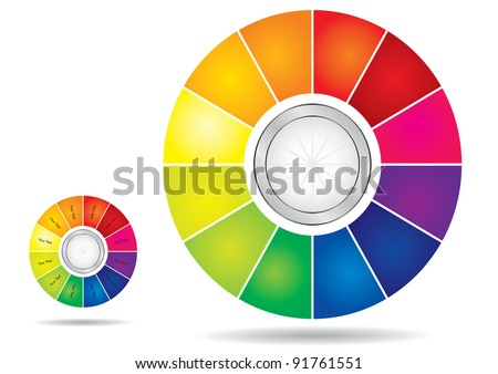 Editable Color Wheel Template Copy Paste Stock Vector Royalty Free