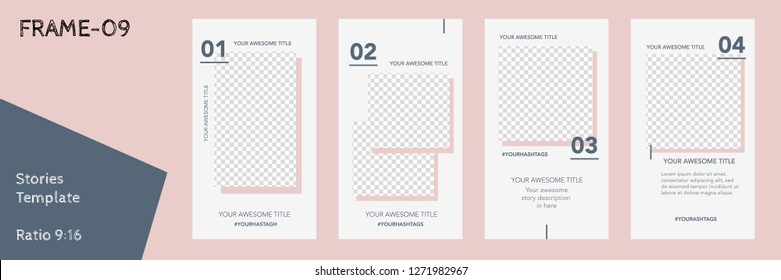 Editable Flat Vector Insta Stories Template. Streaming