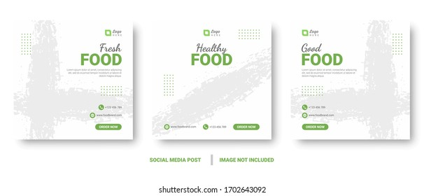 Editable food menu banner social media templates post and story. Perfect for promotions and marketing on social media.