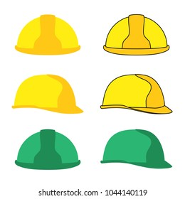 Editable isolated vector icon hard hat set with different colors on white background