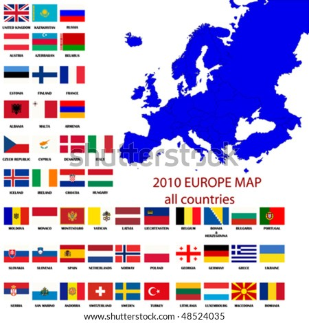 editable map europe all countries borders stock vector royalty free