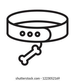 editable pets belt vector icon, modern concept, outline style, simple design