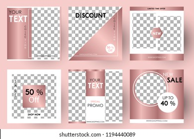 Editable Post Template Social Media Banners for Digital Marketing. Promo Brand Fashion Collection. Vector Illustration Eps 10