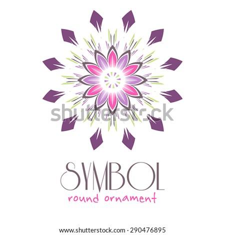 editable round ornament logo template design stock vector royalty