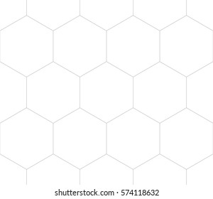 Editable Seamless Geometric Pattern Tile with Simple Hexagonal Shapes Design