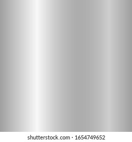 Editable Silver gradient vector illustration. Silver metallic smooth foil material for the abstract background. Jewelry shiny and soft blank decoration element. Eps 10