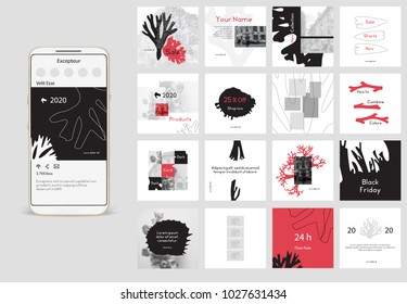 Editable simple corporate posts, Easy Use in banners, unique designs, PR, inspirational Promotional mockups for bloggers, designers, shop owners, entrepreneurs and businesses. Social media template.