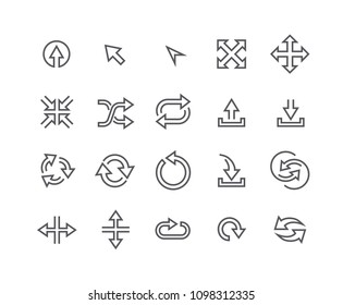 Editable simple line stroke vector icon set,Contains such Icons as Upload, Download, Refresh, Eco, Shuffle, Expand, Move and more.48x48 Pixel Perfect.
