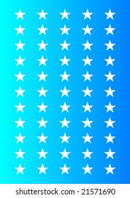 Editable stars with blue background for use as wrapping paper