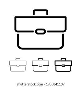 Bearbeitbar Strich-Briefkasten-Symbol im linearen Stil. Bildungs-Symbol  Vektorillustration einzeln auf weißem Hintergrund.