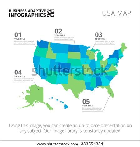 Editable Template Detailed Map USA Isolated Stock-Vrgrafik ... on