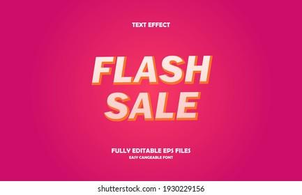 Editable text effect flash sale title style