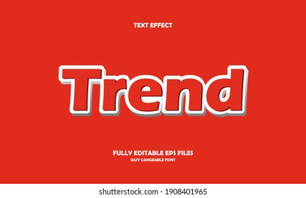 Editable text effect Trend title style