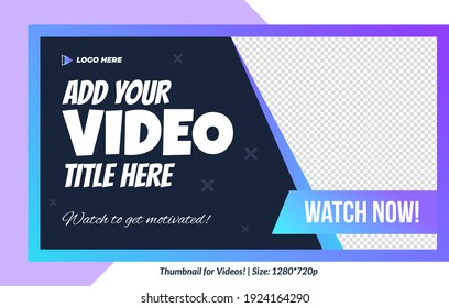 Editable Thumbnail for videos and all social platforms usable in your all videos Editable Premium Vector editable thumbnail template thumbnails design channel art design