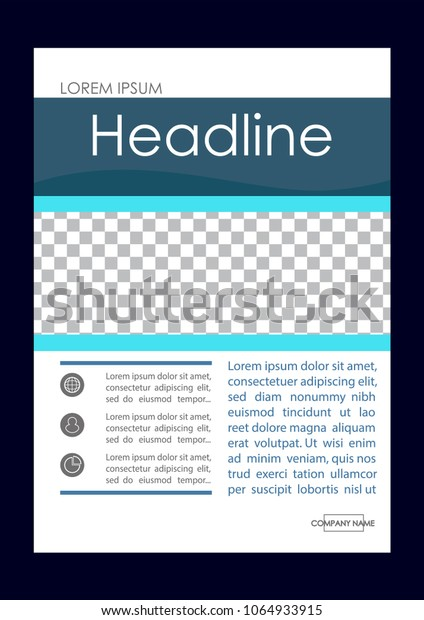 Editable Vector. A4 Business Book Cover Layout Design Template for Portfolio, Brochure, Annual Report, Flyer, Magazine, Academic Journal, Poster, Monograph, Corporate Presentation. Place for graphics