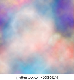 Editable vector background of colorful smoke made using a gradient mesh