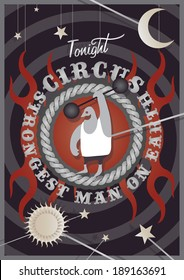 Editable vector illustration of a circus event poster