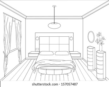 pencil sketch of a room images stock photos vectors shutterstock
