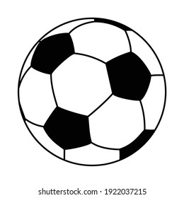 an editable vector illustration of soccer ball isolated on white