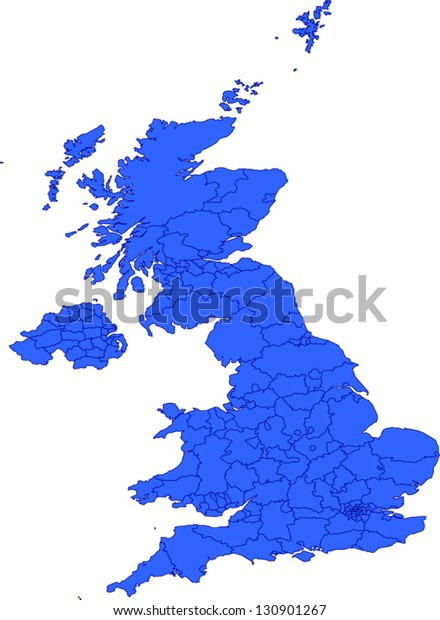 Map Of England Provinces.Editable Vector Map Great Britain Provinces Stock Vector Royalty