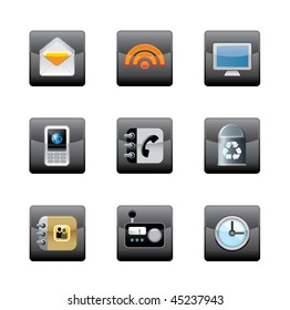 Editable vector media icons