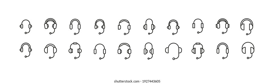 Editable vector pack of support line icons. Trendy stroke signs for website, apps and UI. Premium set of support thin line icons.
