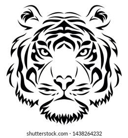Editable vector of Tiger head tribal logo