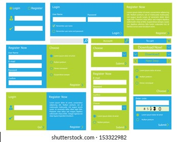 Editable web form with trendy flat design
