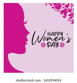 Editable Women's Day Post Template Social Media Banners for Digital Marketing. Promotion Brand Fashion. Food. Stories. Square. Streaming. Vector Illustration