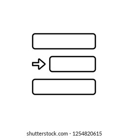 editorial, right alignment icon. Element of editorial design icon. Thin line icon for website design and development, app development. Premium icon