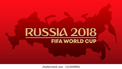 Editorial use only. FIFA World cup 2018. Russia 2018. Vector illustration design.