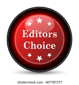 Editors choice icon. Internet button on white background. EPS10 vector