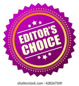 Editors choice icon vector illustration isolated on white background