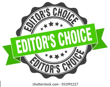 editor's choice. stamp. sticker. seal. round grunge vintage ribbon editor's choice sign