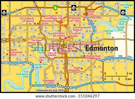 Edmonton Map on