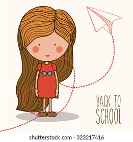 Eduaction  concept with back to school icons design, vector illustration eps 10
