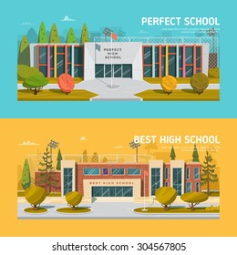 Educate theme vector collection