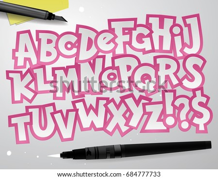 Education Alphabet Paper Craft Design Cut Stock Vector Royalty Free