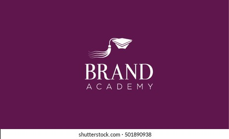 Education alumni cap vector logo design template. Graduation hat vector illustration
