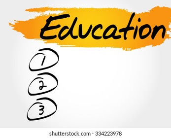 Education blank list concept