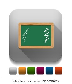 education board, Learning Green Board With long shadow over app button