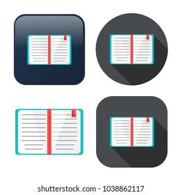 education book icon - library or bookstore icon - vector literature symbol