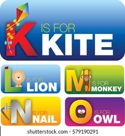 education cards with the english alphabet aimed at pre school or pre k students or childern